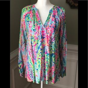 Lilly Pulitzer Kaleidoscope of Color Tunic